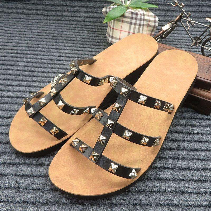 Leater Plateform Sandalia Feminina Leather Design Ete Ladies Sandals Fememinia Classique Barefoot Sandals Campus Studdes Brazil