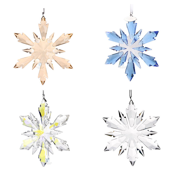 Large Crystal Christmas Snowflake Hanging Glass Pendants Crystal Suncatcher Prism Chandelier Parts Ornament