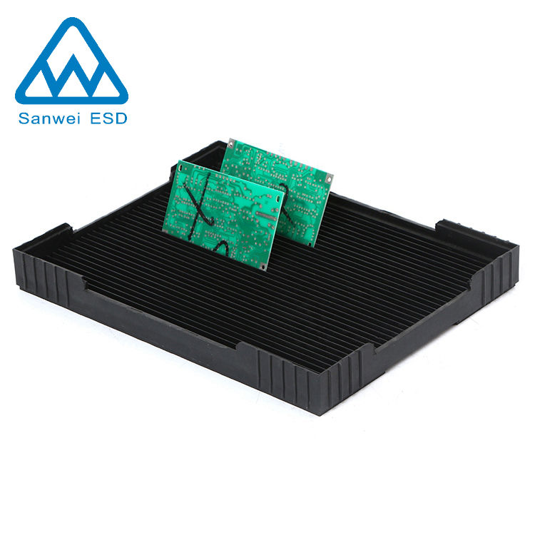 RoHS [ Pcb Storage Rack ] Pcb Rack 3W-9805408 Antistatic PCB Plastic Black Cleanroom Storage Circulation Rack