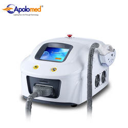 portable pain free IPL SHR hair removal equipment as beauty