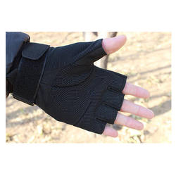 Custom Logo Shock Resistant Military Tactical Single Layer Fingerless Gloves