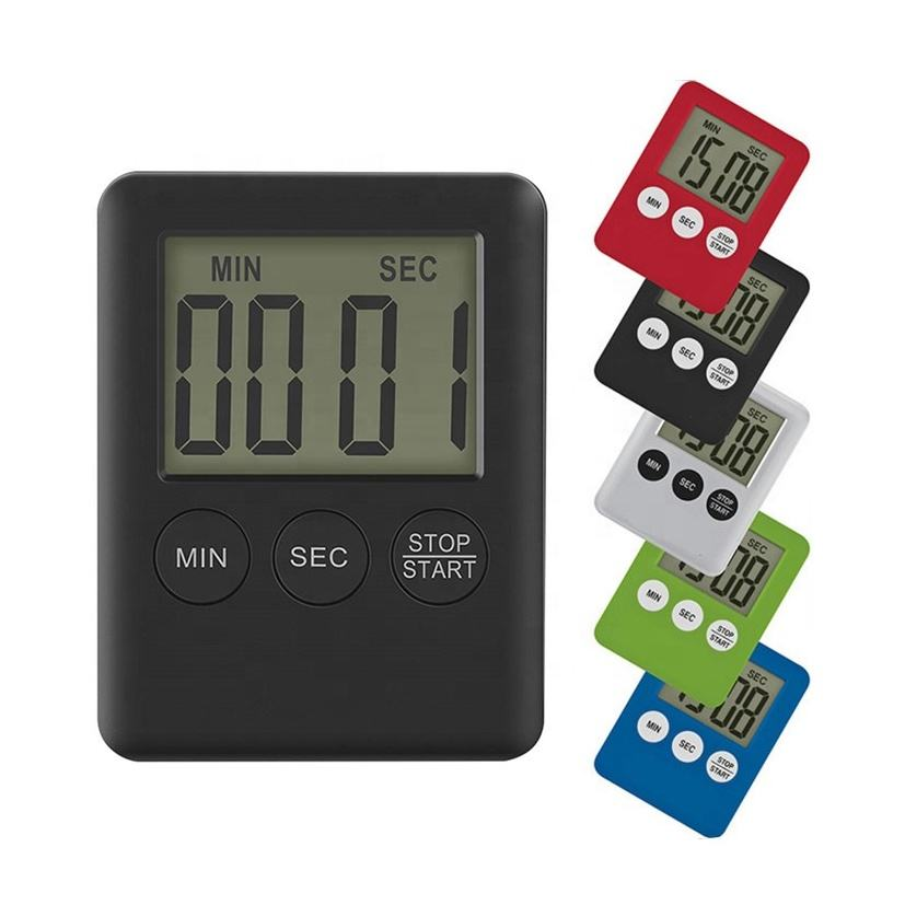 KH-TM023 Safe Plastic Portable Small Mini Electronic Countdown Magnetic Digital Kitchen Timer for Promotion