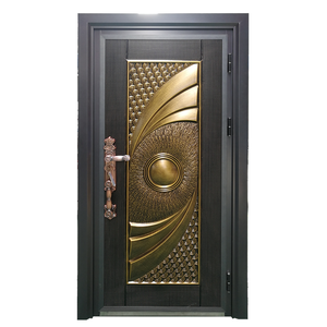 Door Security Design Bullet Proof Luxury Entrance Cast Aluminum Doors