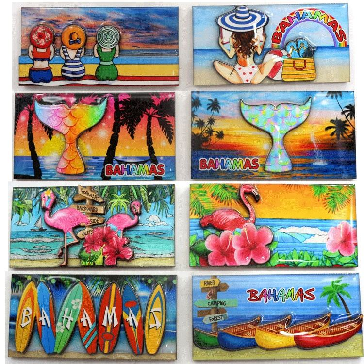 High Quality Wooden Epoxy Crafts Tourist Souvenir Promotion Gifts Customized 3D Epoxy Coated Wooden MDF Magnet Fridge Magnet
