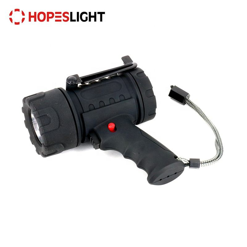 Rechargeable LED handheld emergency waterproof spotlight flashlight searchlight