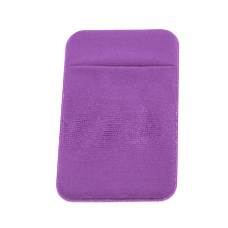 Hot sale 3M Adhesive spandex lycra Mobile Phone RFID blocking sticky wallet