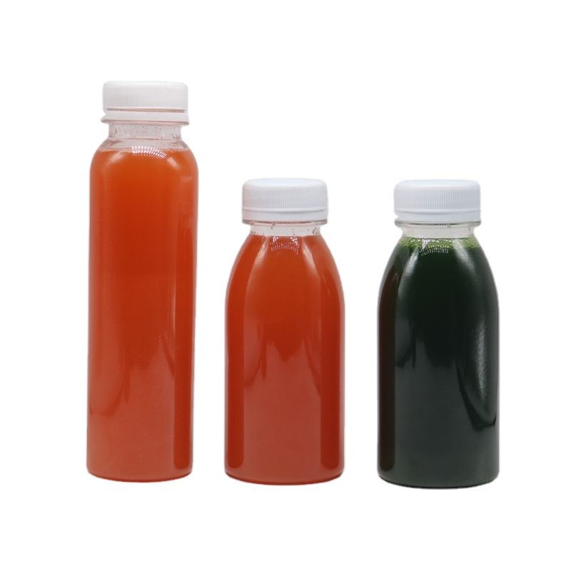 MAYSURE food grade plastic 12oz square plastic bottles with caps With Screw Top Lid
