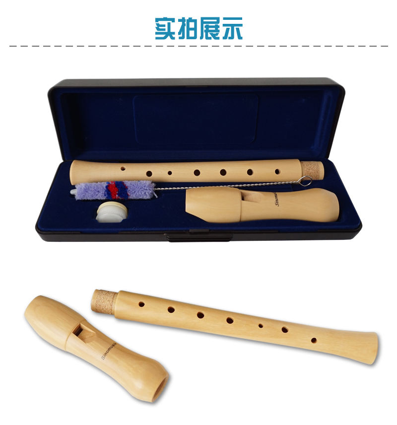 wholesale Price aiersi brand Wooden blockflute Soprano Recorder Flute woodwind educational musical instrument toys for sale