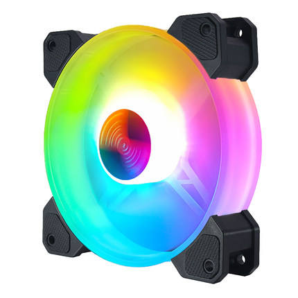 High Quality Axial Airflow PC LED Light Cooler Fan 1200rpm Computer Case RGB fan 120mm Computer RGB Gaming Cooling Fan