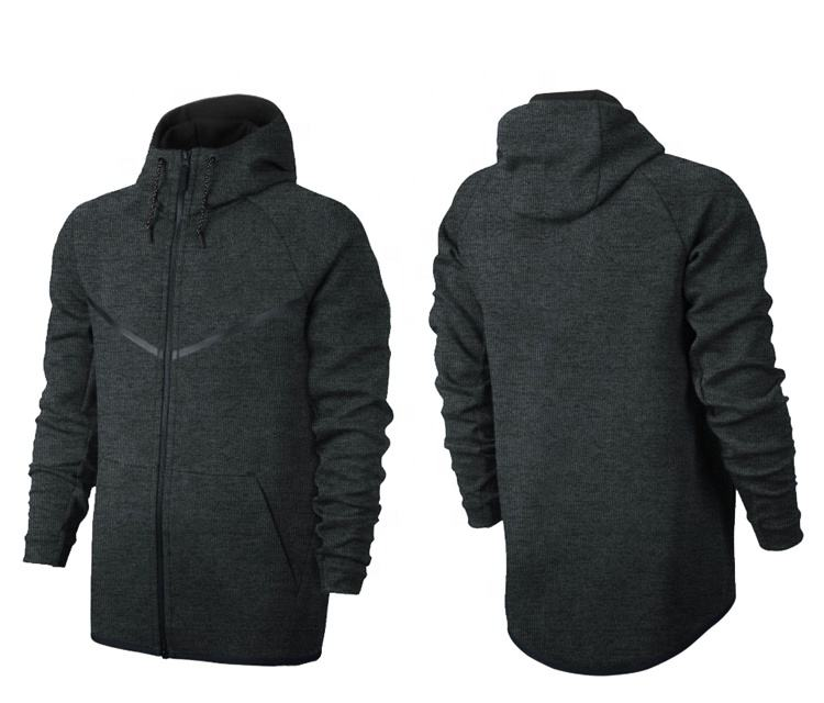 new autumn winter wholesale tech fleece hoodie fashion leisure sports jacket running fitness jacket fleece lined hoodie