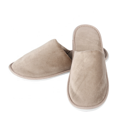 High End Quality Disposable Velour Hotel Slipper for five star hotels