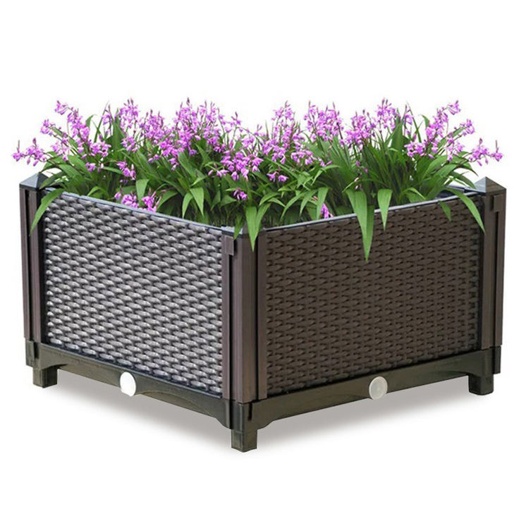 Factory Outdoor rasied garden beds accessories flower pots & planters decorative plastic stackable planter for plants