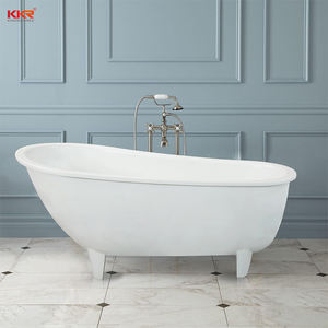 Solid surface freestanding hot european style bathtub with antique tyle