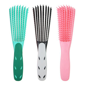 Custom special shape eight moving arms head curve vent fast drying Pravite label detangling hair brush for curly hair
