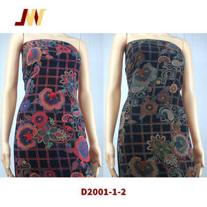 30s rayon printed digital discharge print fabric ready goods D2001