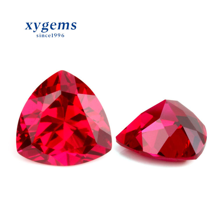 wuzhou 1 carat stone prices trillion pigeon blood red rose buyers synthetic corundum ruby gems
