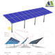 Single Pile Solar Bificial Racking Mounts System with More than 15% Power Generation Efficiency