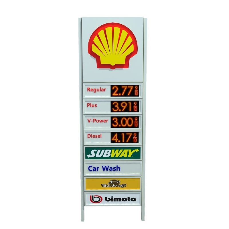 led outdoor advertising pylon board signs
