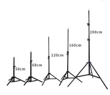 200cm Professional Photography Light Stand Black Aluminium Camera Tripod For Tripods