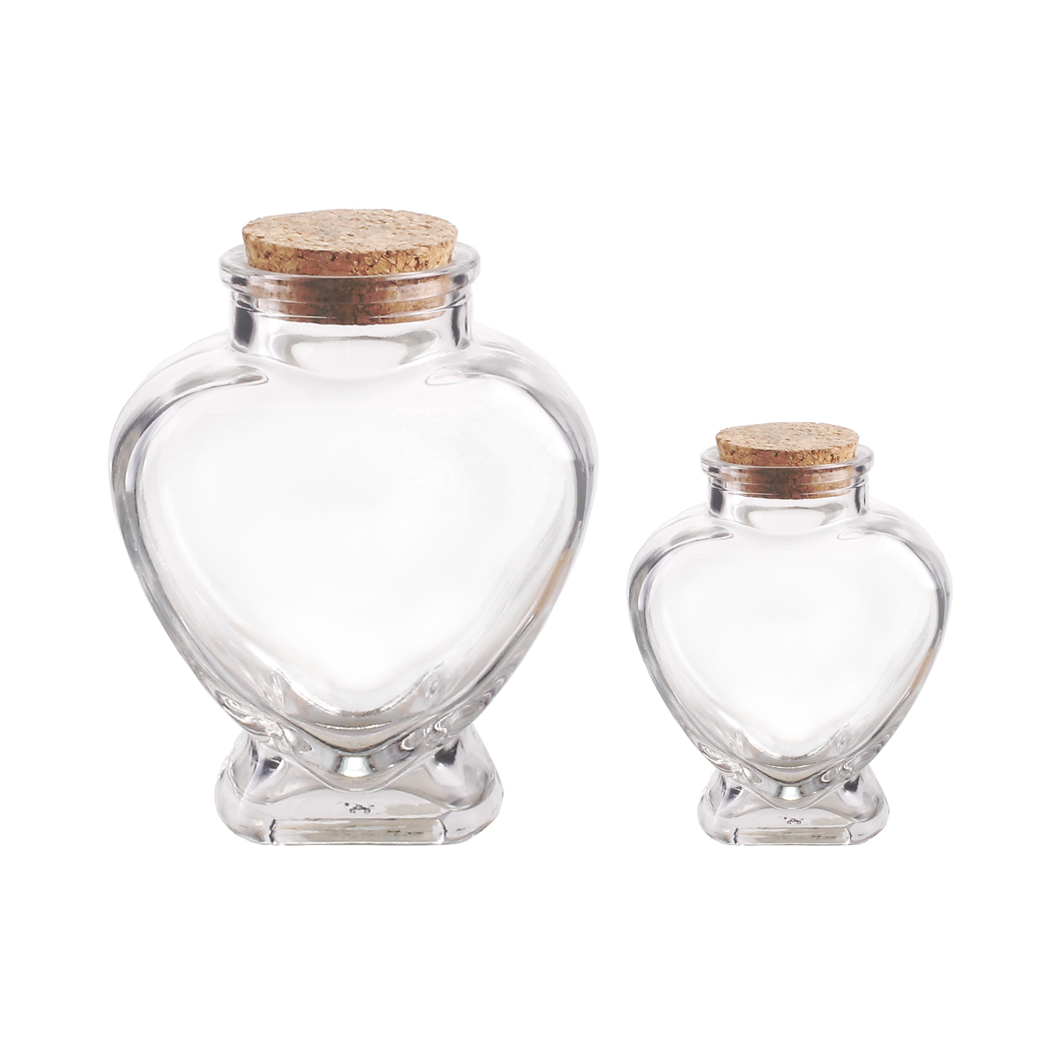 50ml 150ml heart lovely shaped candy chocolate glass jar with cork lid