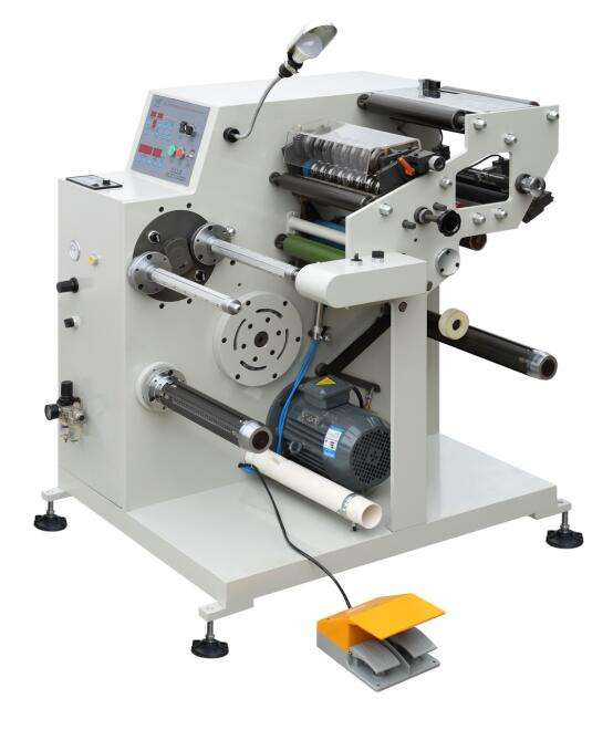 SL320L High Speed Adhesive Label Roll To Roll Slitting And Rewinding Die Cutting Machine