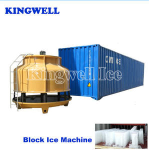 Kingwell 10tons containerized block ice plant