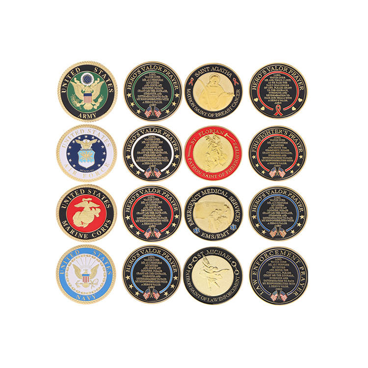 Gold Plated United States Air Force/Army/Navy Commemorative Coin Challenge Coin