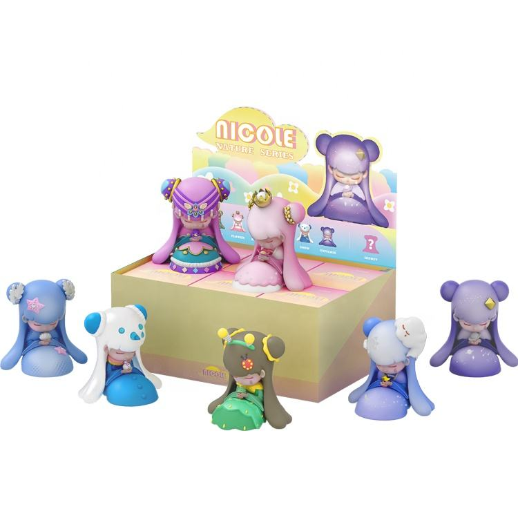 6 pcs/set Hot Sale juguete cartoon blind box toy designer series PVC toys doll for collection