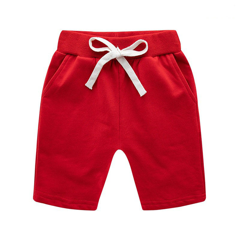 2020 Summer Casual Children's 100% Cotton Beach Pants Baby's thin boys' shorts Pure Color Kids Shorts