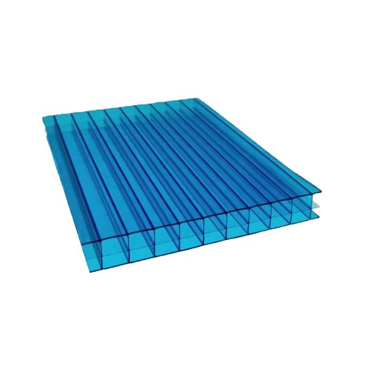 Factory Supplier Hamgmei UV-coating Polycarbonate Hollow Sun Sheet Plastic Greenhouse Roofing Impact Resistance
