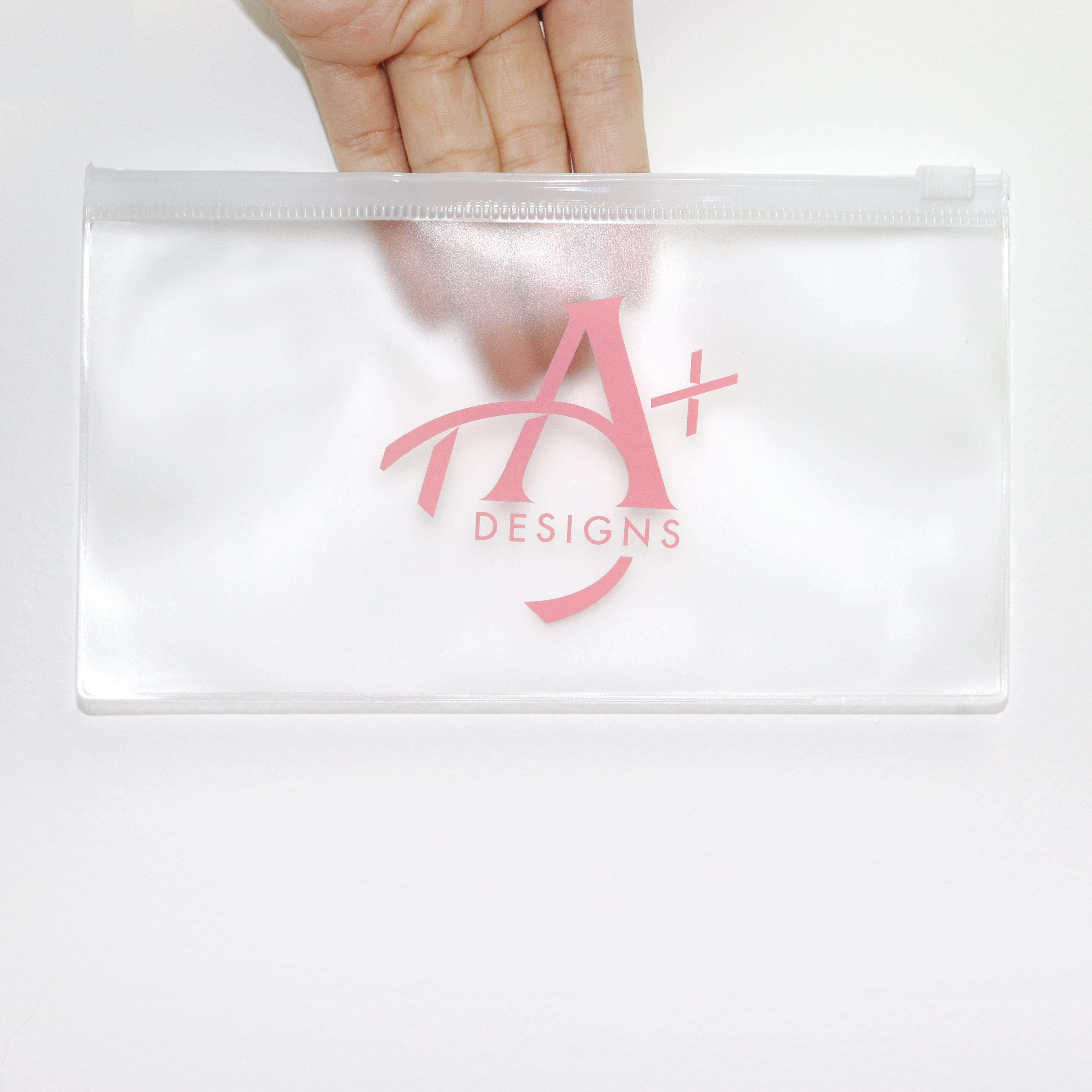 Custom plastic clothing bikini zipper bag plastic zip lock packaging pvc cosmetic printed ziplock bags wholesale