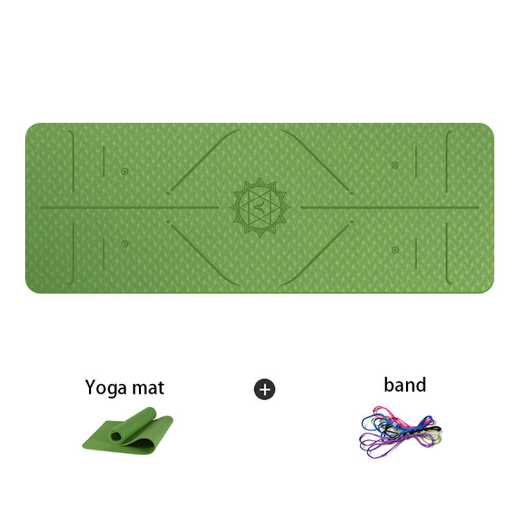 Custom yoga mini meditation good quality exercise fitness yoga mat with alignment lines
