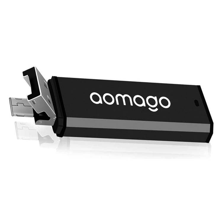 Aomago Small HD Recording 8GB OTG USB Audio Recorder Voice Activated Mini Voice Recorders for Class Lectures Meetings