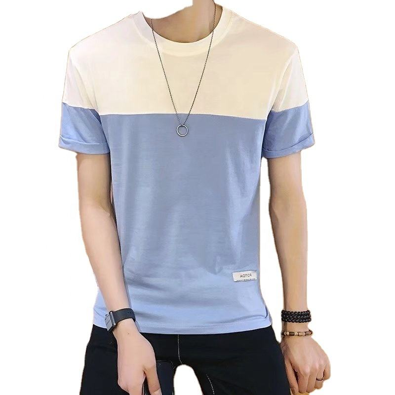 Wholesale casual style custom fit stripe middle and old man stripe tshirt