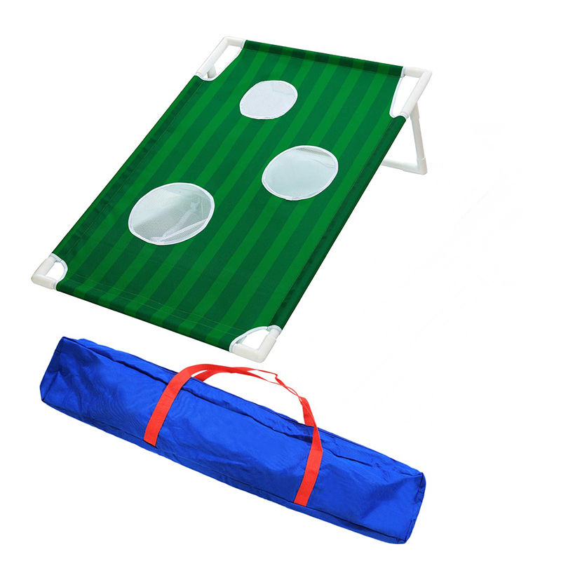 Golf Chipping Bersih Dikombinasikan Bean Bag Toss Permainan Putting Green Golf Target