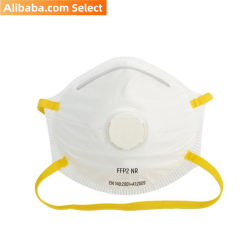 Alibaba Select White disposable ffp2 adult particle folding half mask EN149 (400pcs/Carton)