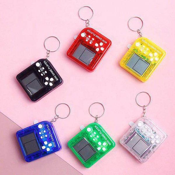 Electric Pet Game Machine Keychain Cheap Mini Game Console with 6 Colors