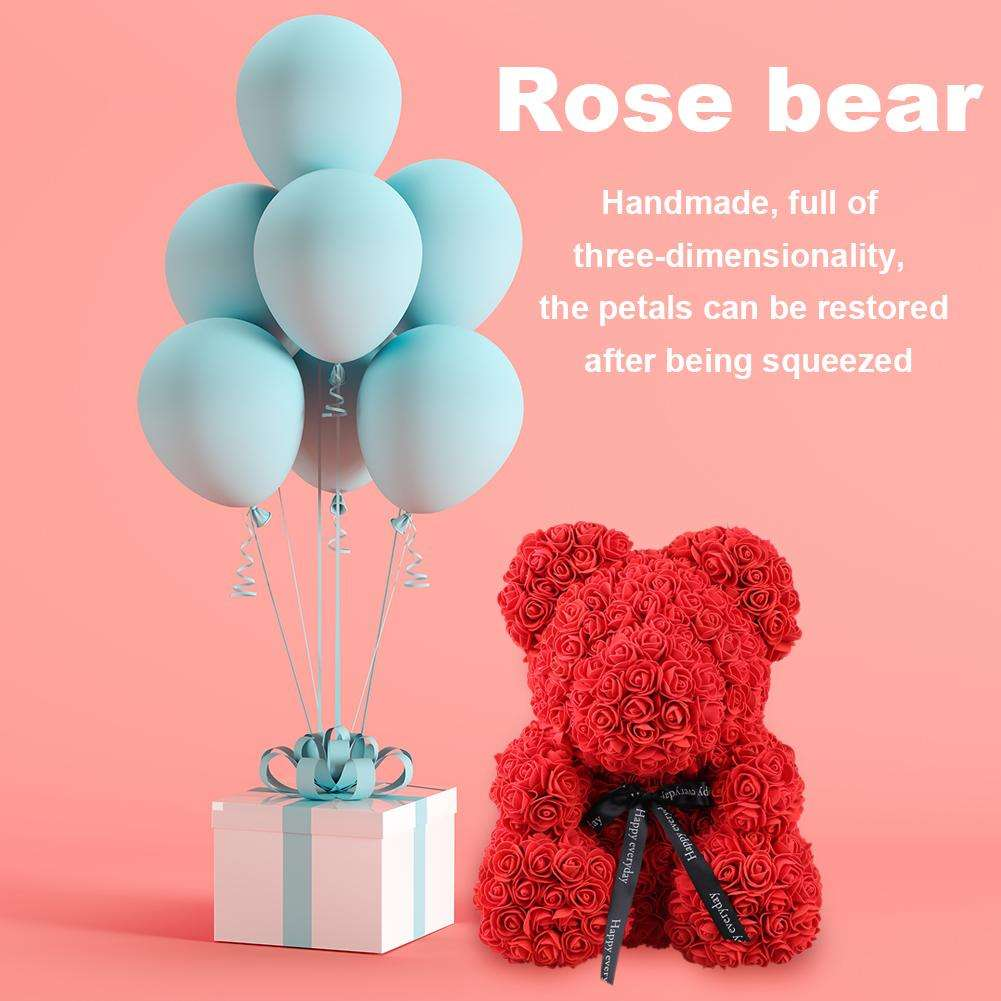 Artificial Wedding Flowers Decoration Artificial Custom Flower Foam Flower Rose Teddy Bear For Valentines Day Gifts Wedding Party Decoration