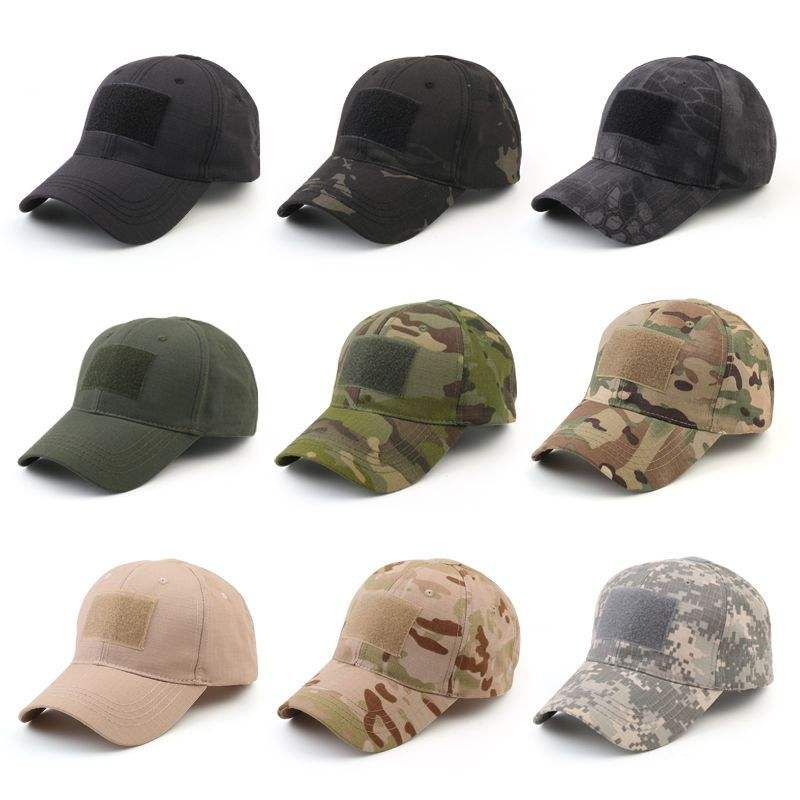 Outdoor Hiking Hunting Jungle New Patch Army Black Men Camouflage Baseball Military Custom Tactical Hat Headgear