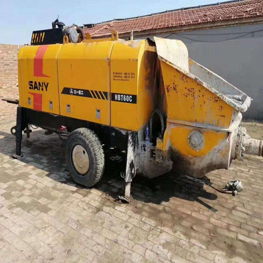 High quality Second Hand Sany HBT60C-1413 Concrete Pump Trailer Truck electric/diesel power concrete pump truck
