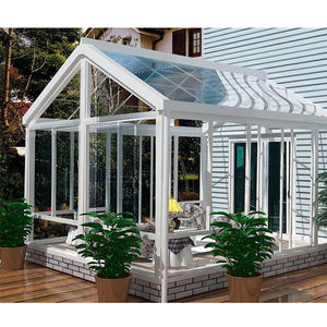 Latest design prefab glass garden house sunroom with aluminum extrusion profile and lock