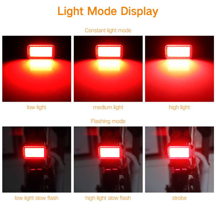 Hot Sale Cycle Accessories Waterproof Night Riding Usb Rechargeable Bike LED Tail Light