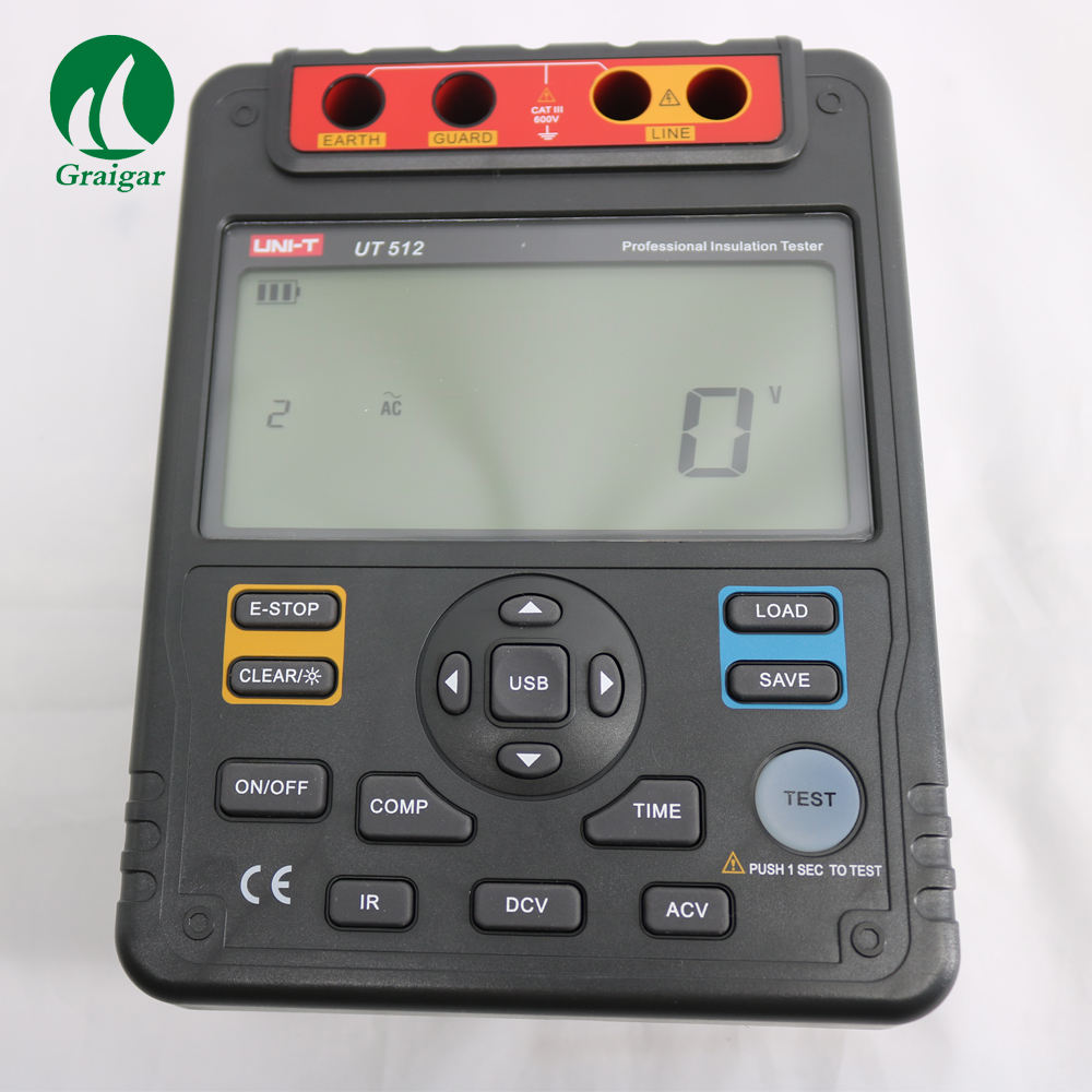 UNI-T UT512 Insulation Resistance Tester Meter Ohm 2500v Usb Interface ohm
