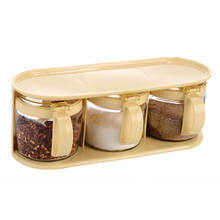 Beautiful kitchen glass seasonings box