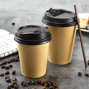 china disposable custom printed biodegradable paper coffee cups for coffee