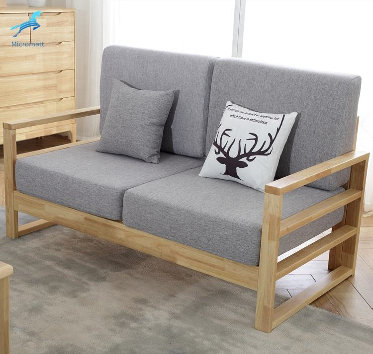 Wholesale furniture Wood Nordic Style Easy Assembling Log Color Corner sofa
