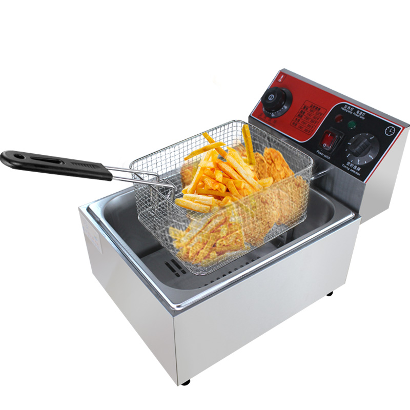 Stainless Steel French Fries Machine electric chip commercial industrial deep fryer