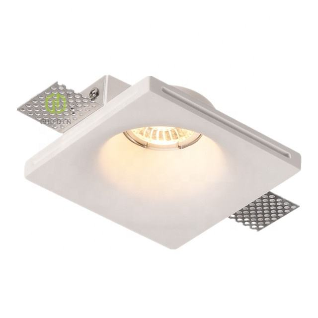 GDLED IP20 Plaster Down Lighting, Gypsum Recessed Trimless Spot Light for Home