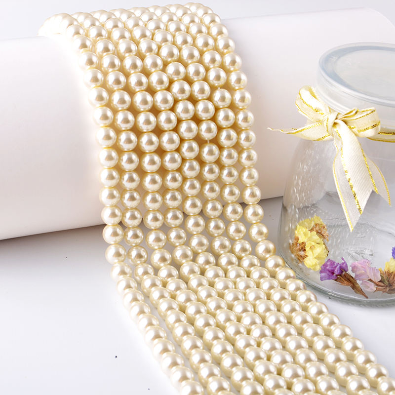 Free sample crystal pearl in bulk,glass beads for jewelry making