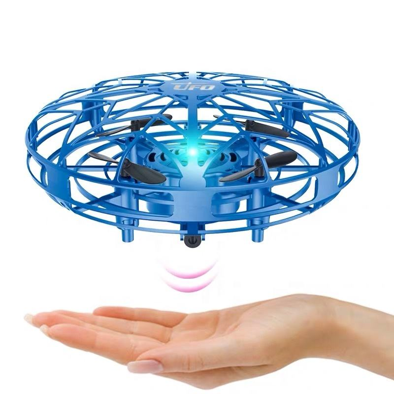 2020 New Hand Gesture Control Flying Toy 4ch Mini Infrared Induction Levitation Quadcopter UFO Drone With Led Lights